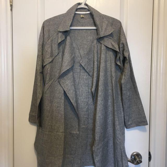 Light Trench Jacket- One Size/Grey