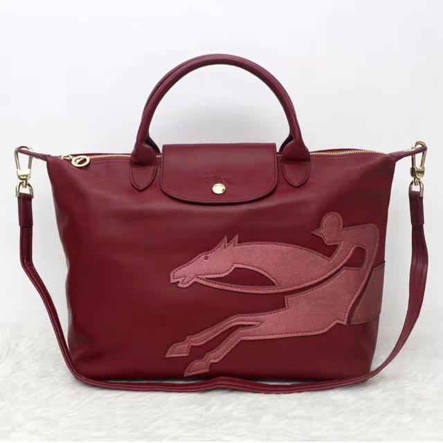 Longchamp Leather Tote