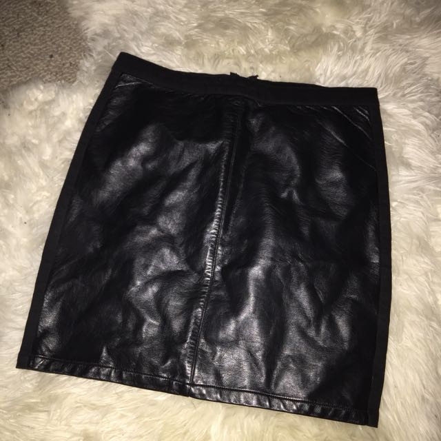 Luck and Trouble Leather-front Skirt