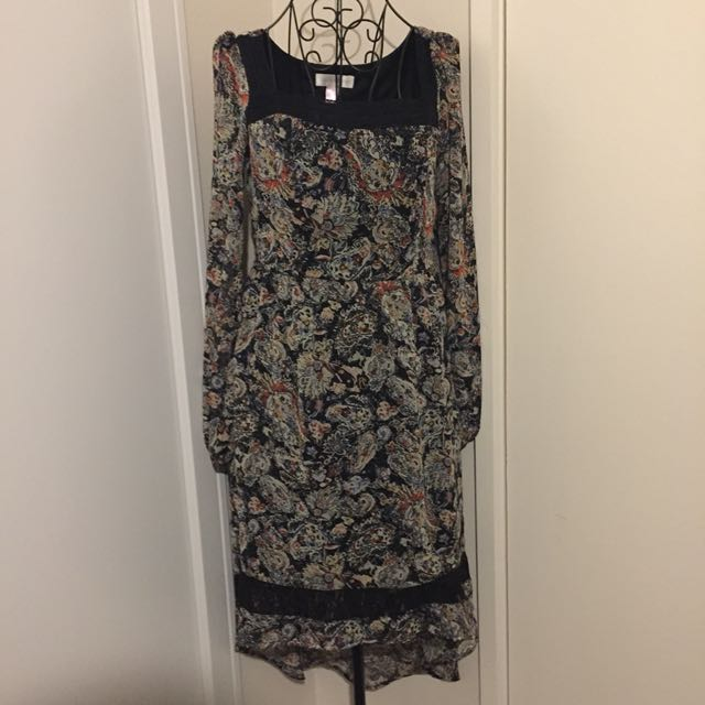 (M) Paisley Print dress