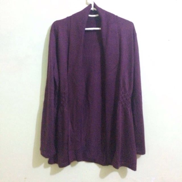 Maroon Knit Outer