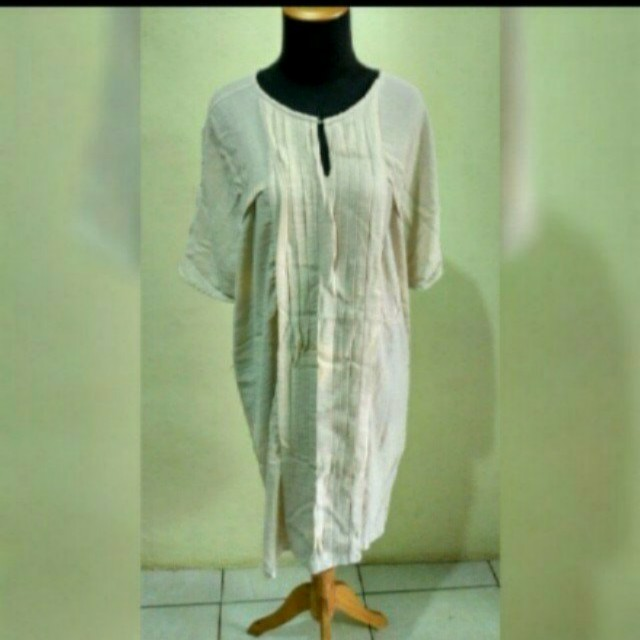 Massimo dutti large cotton dress