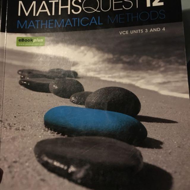 Maths Quest 12 Mathematical Methods VCE units 3 & 4 Jacaranda