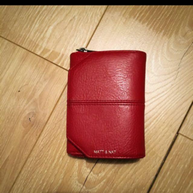 Matt and nat red wallet