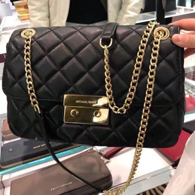153a83c2f137 MICHAEL MICHAEL KORS Sloan Large Quilted-Leather Shoulder Bag ...
