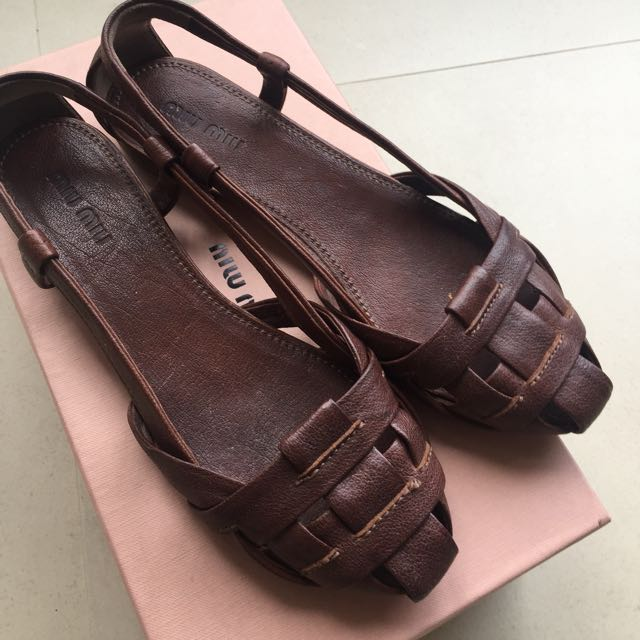 Miu Miu 平底編織鞋 size 37.5