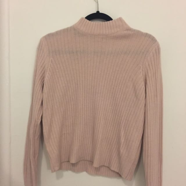 Mock neck knot sweater