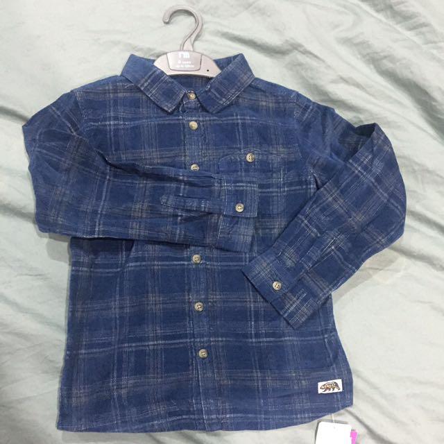 Mothercare curduroy long sleeve shirt