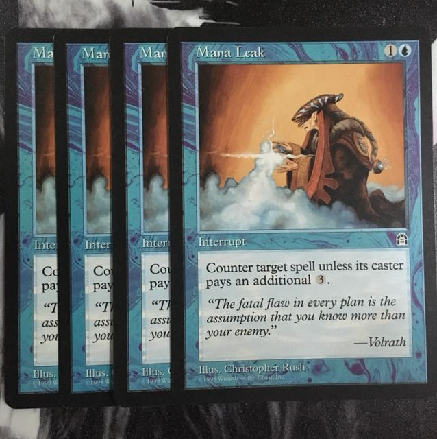 Mtg Mana Leak Playset Toys Games Board Games Cards On Carousell