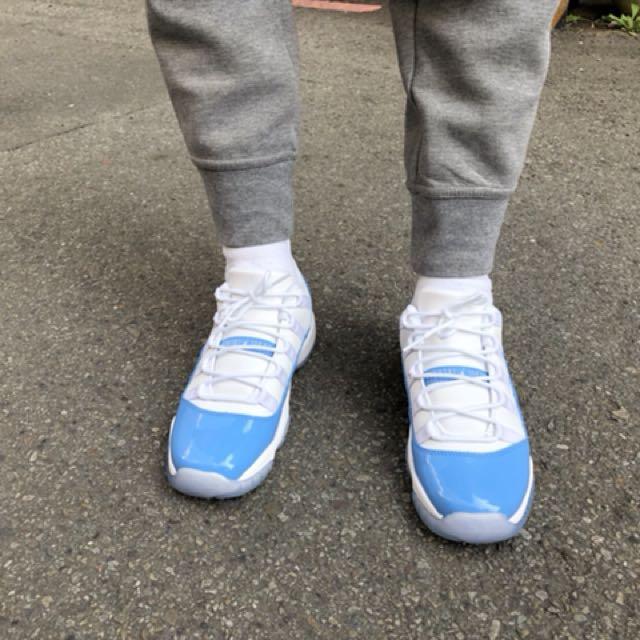 NIKE AIR JORDAN 11 RETRO LOW BG低筒 北卡藍 白 籃球鞋 女段 528896-106