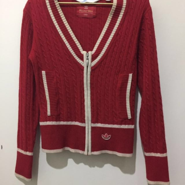 Original Adidas Girls Red Sweater