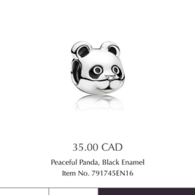 Pandora peaceful panda charm