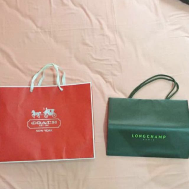 Paperbag Coach and Longchamp