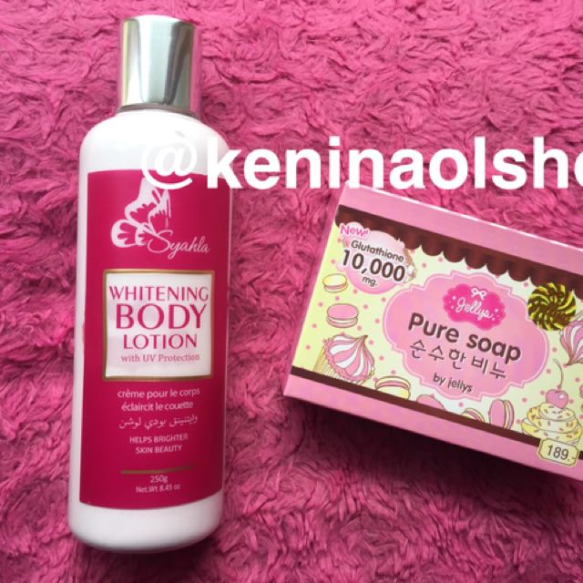 Pure soap original & lotion syahla pink