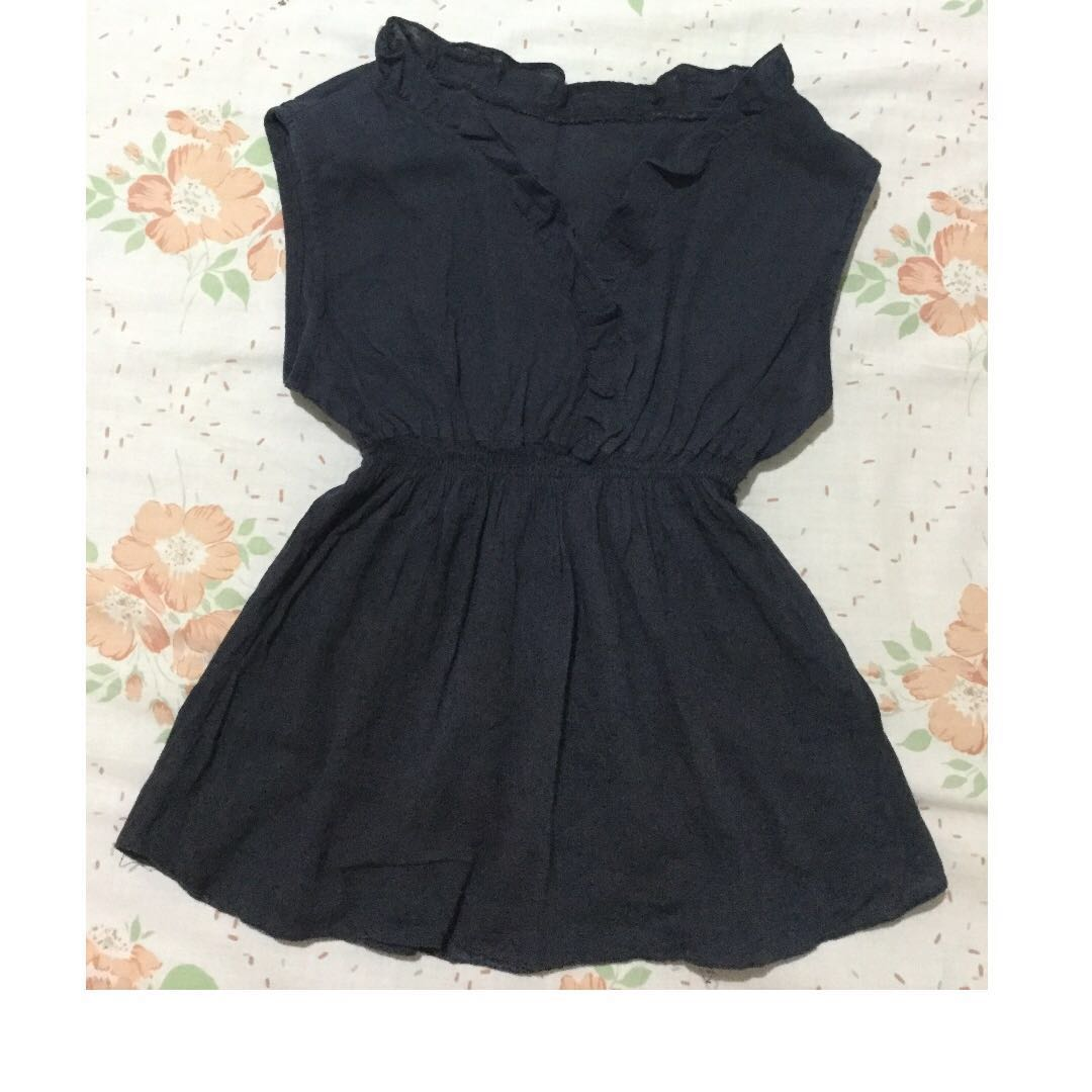 REPRICED Black Baby Doll V-Neck Top
