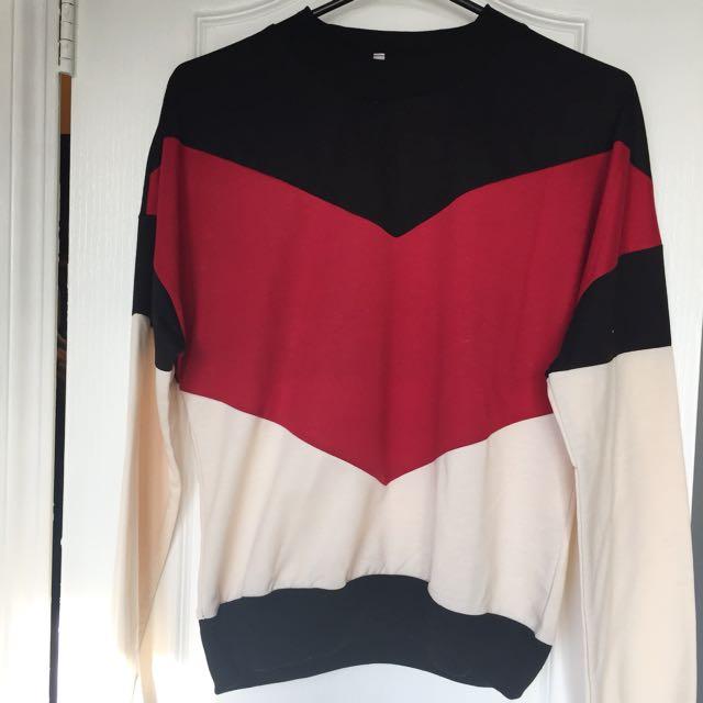 Retro Color-block Pullover