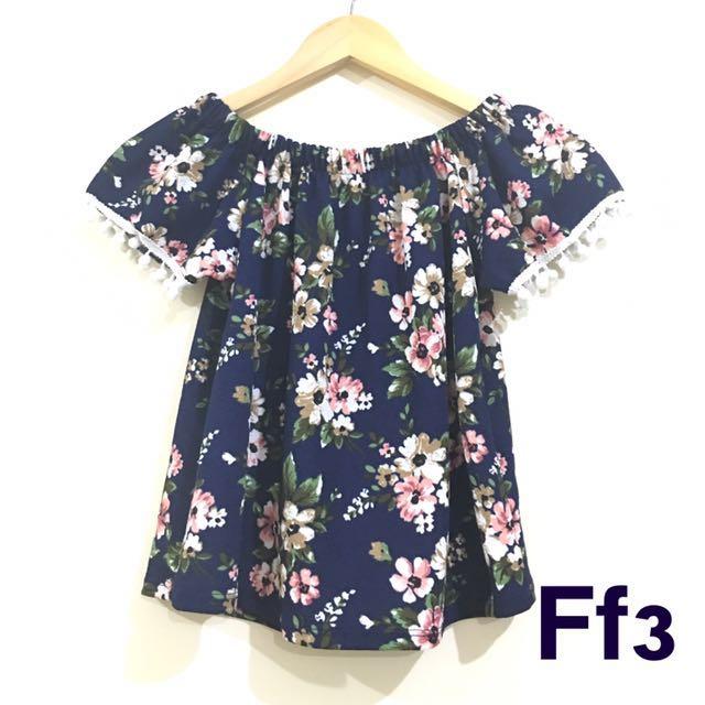 SALE!!! Floral Off-Shoulder Top