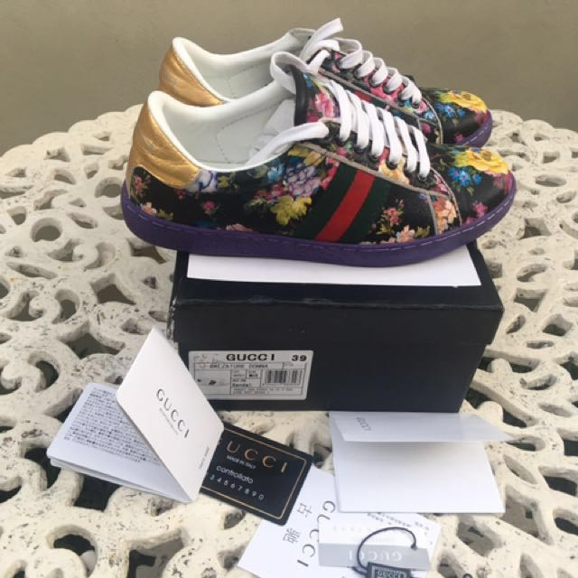 SALE‼️Gucci GG Floral Sneakers