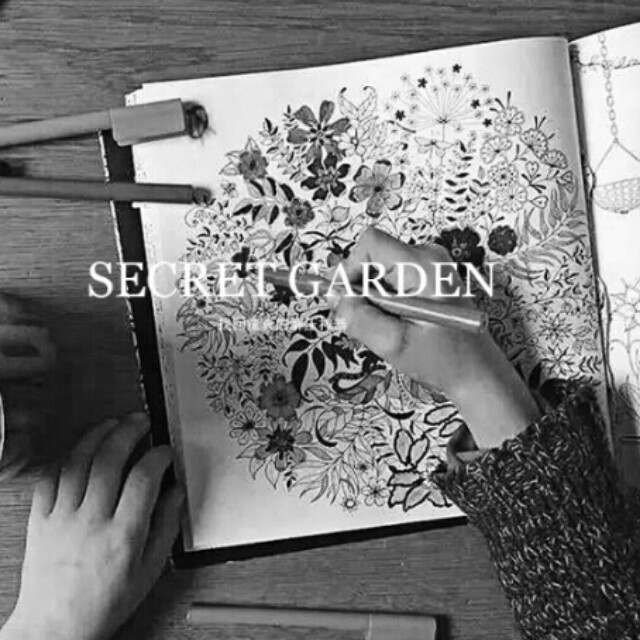 Secret Garden Colouring Book Free Two Bullet Crayons Books Stationery On Carousell