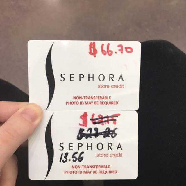 Sephora Store Credit