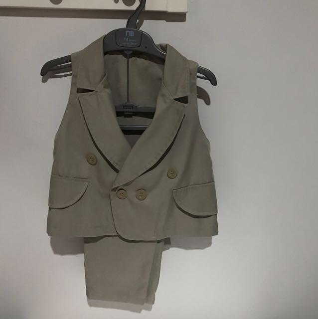 Setelan vest dan celana panjang anak