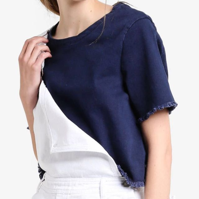 Something borrowed denim boxy top