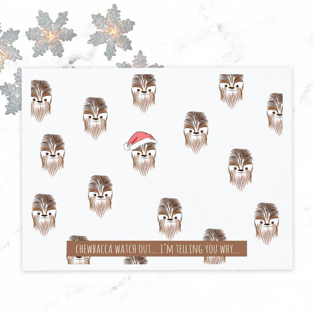 CHRISTMAS CARDS! Star Wars Christmas Card - Funny Star Wars Pun Card ...