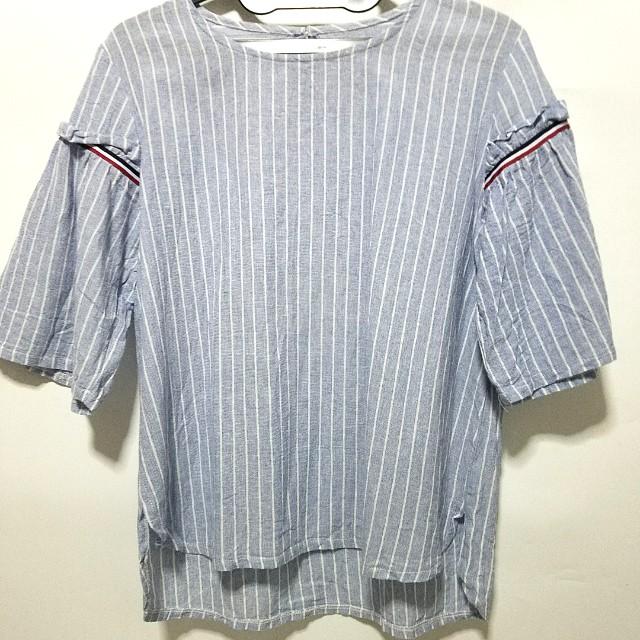 Stripe shirt cute sleeves
