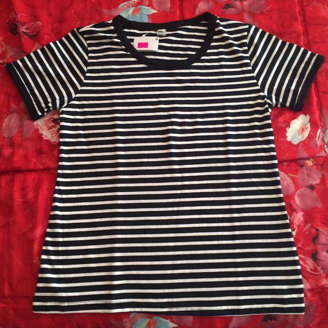 Stripes Ringer Tee Black