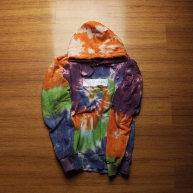 SUPREME Hoodie Box Logo Tye Dye Premium