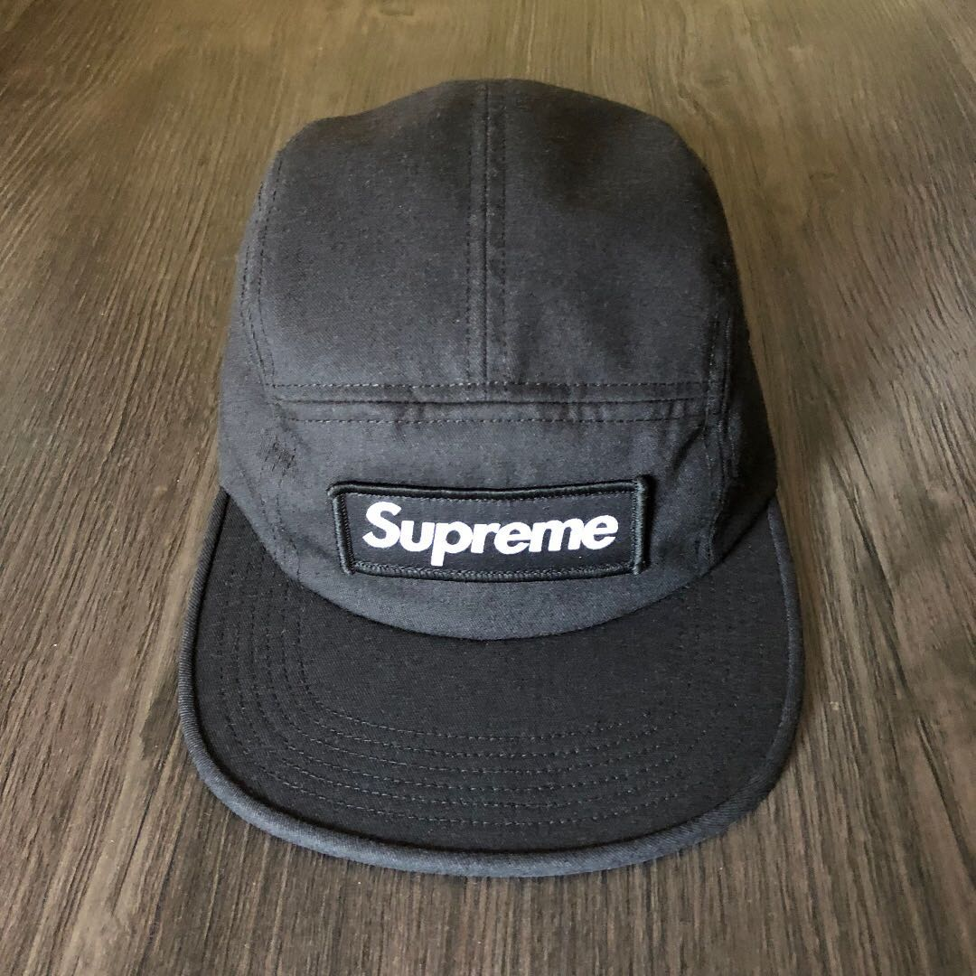 84d954c9 Supreme NYCO Twill Camp Cap Black FW17 💯Legit, Men's Fashion, Accessories  on Carousell