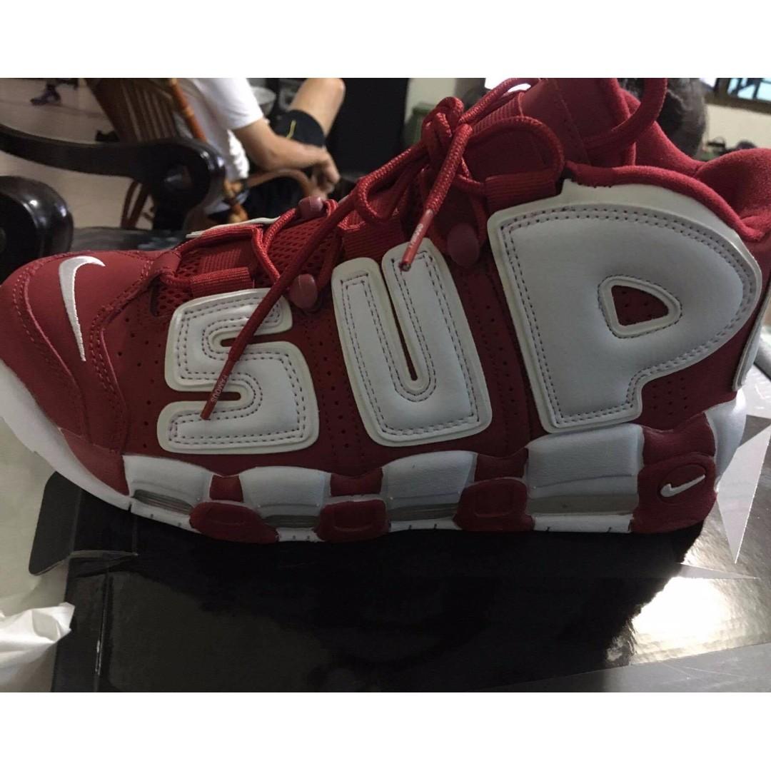 supremeXbigair  red&white