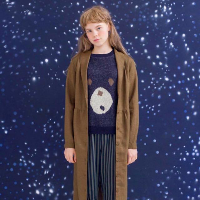 Syrup 冬 大好きな麻混素材 復古感 棉麻外套&連身裙M