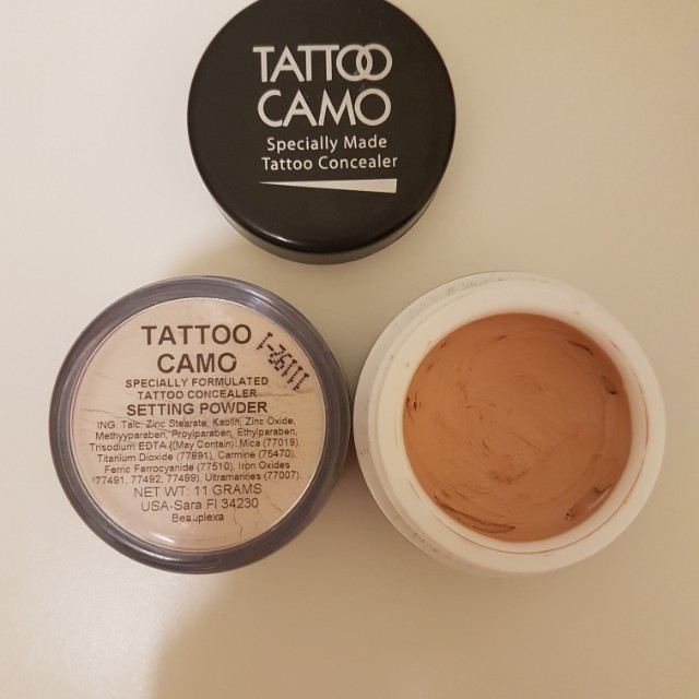 Tattoo camo & setting powder