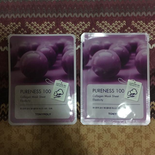TONY MOLY Pureness 100 Collagen Mask Sheet - Elasticity