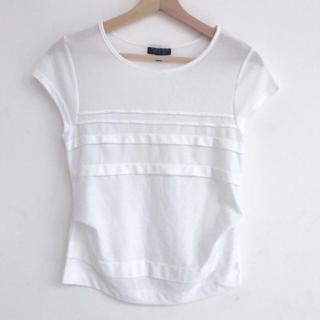Top Shop - White Top size uk 6
