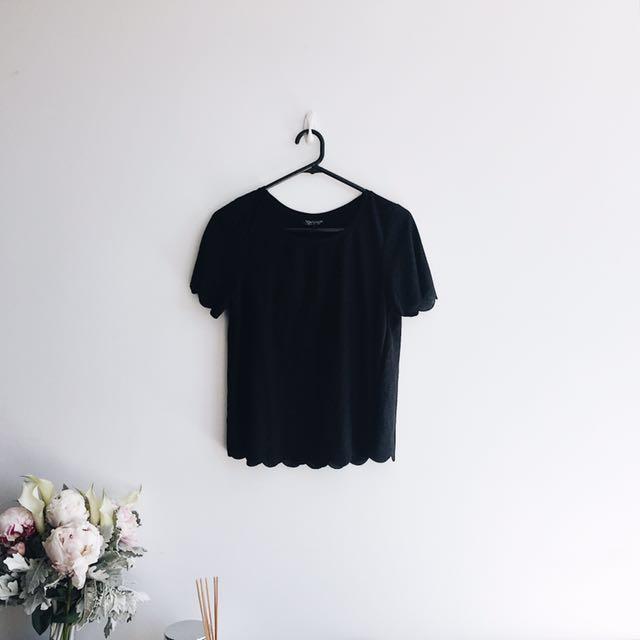 Topshop scallop t-shirt