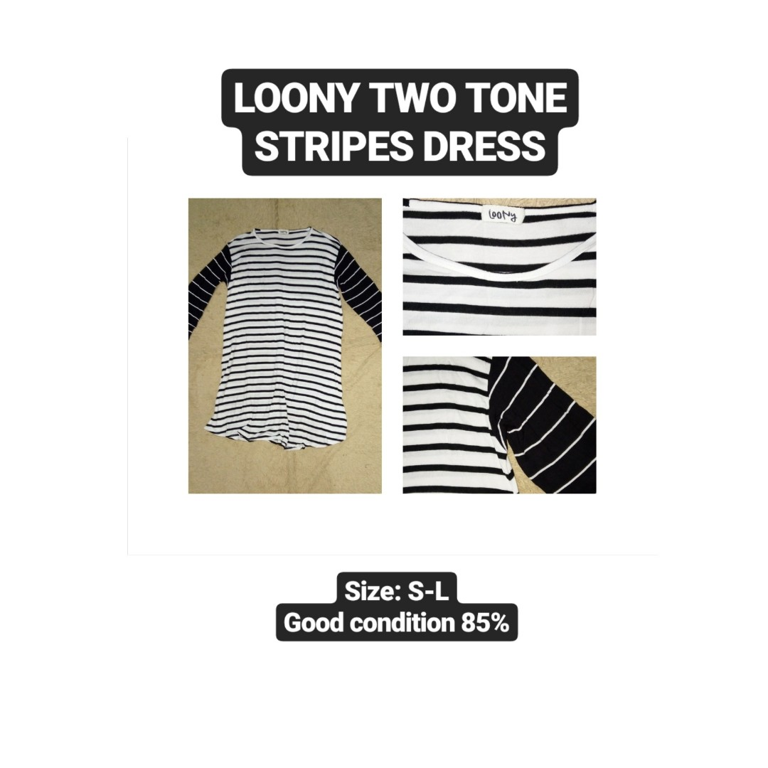 Two Tone Stripes Dress