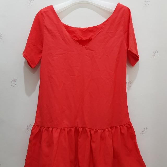 V loose dress