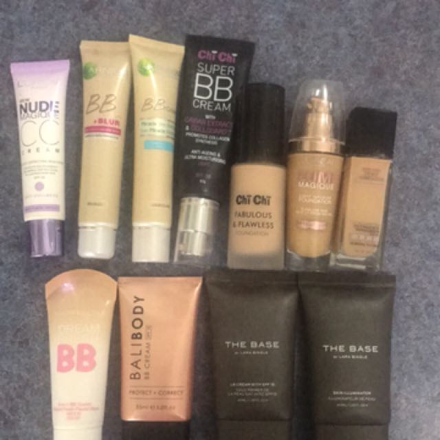Various foundations and BB creams