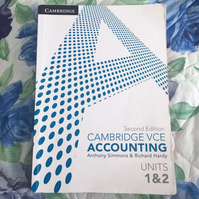VCE ACCOUNTING TEXTBOOK UNIT 1&2