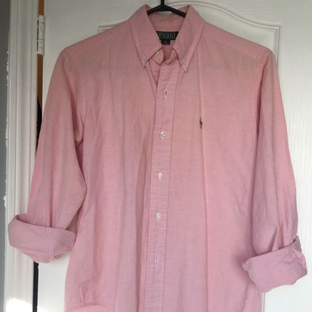 Vintage Baby Pink Polo Button Up