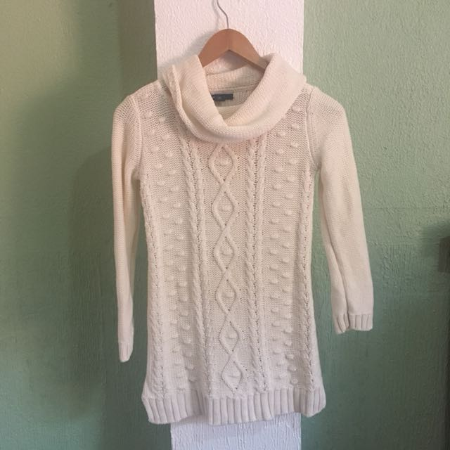 White knitted sweater/long top
