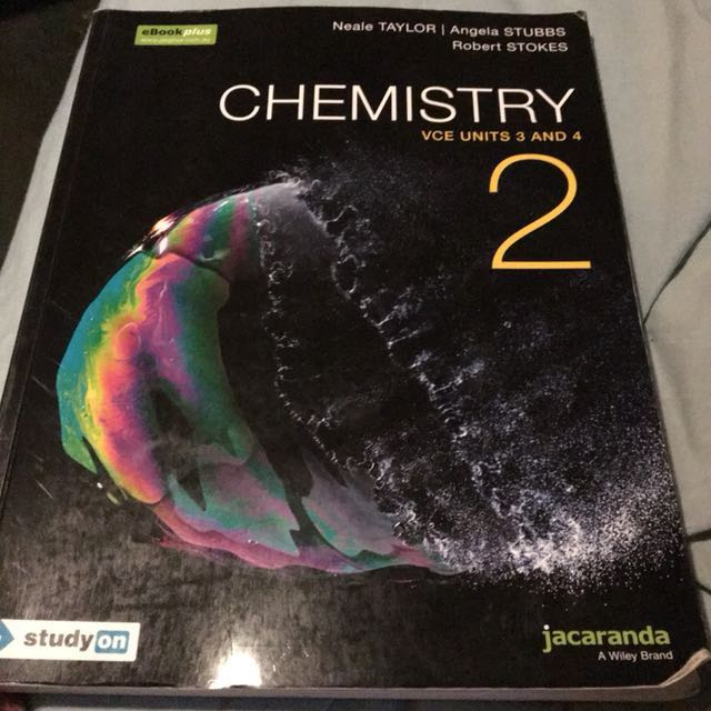 Year 12 Chemistry 2 VCE units 3 & 4 Jacaranda - Eds Taylor, Stubbs & Stokes