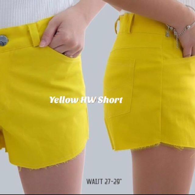 Yellow High Waist Short