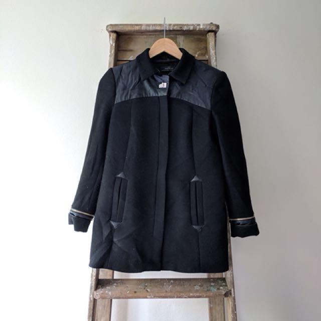 Zara black a-line jacket/ coat