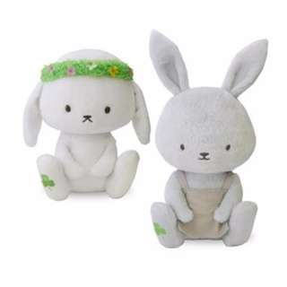 INSTOCK Authentic Monogatari Zukan SET Soft Toy Plush Toy Rabbit Grey White Rabbit Toy From Japan