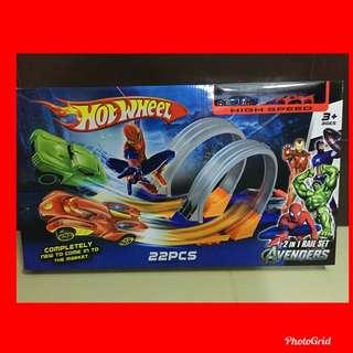 Avengers Hotwheel 2 in 1 Rail/Track Set