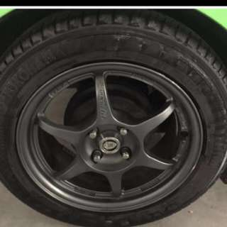 Car rim and tyre