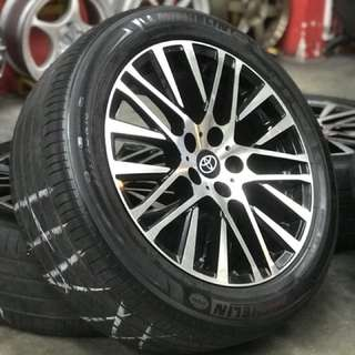 Original design vellfire modelista 18 inch tyre 70% estimated max. Mpv mewah bernama vellfire, this wheels make your car like happy new year!!!